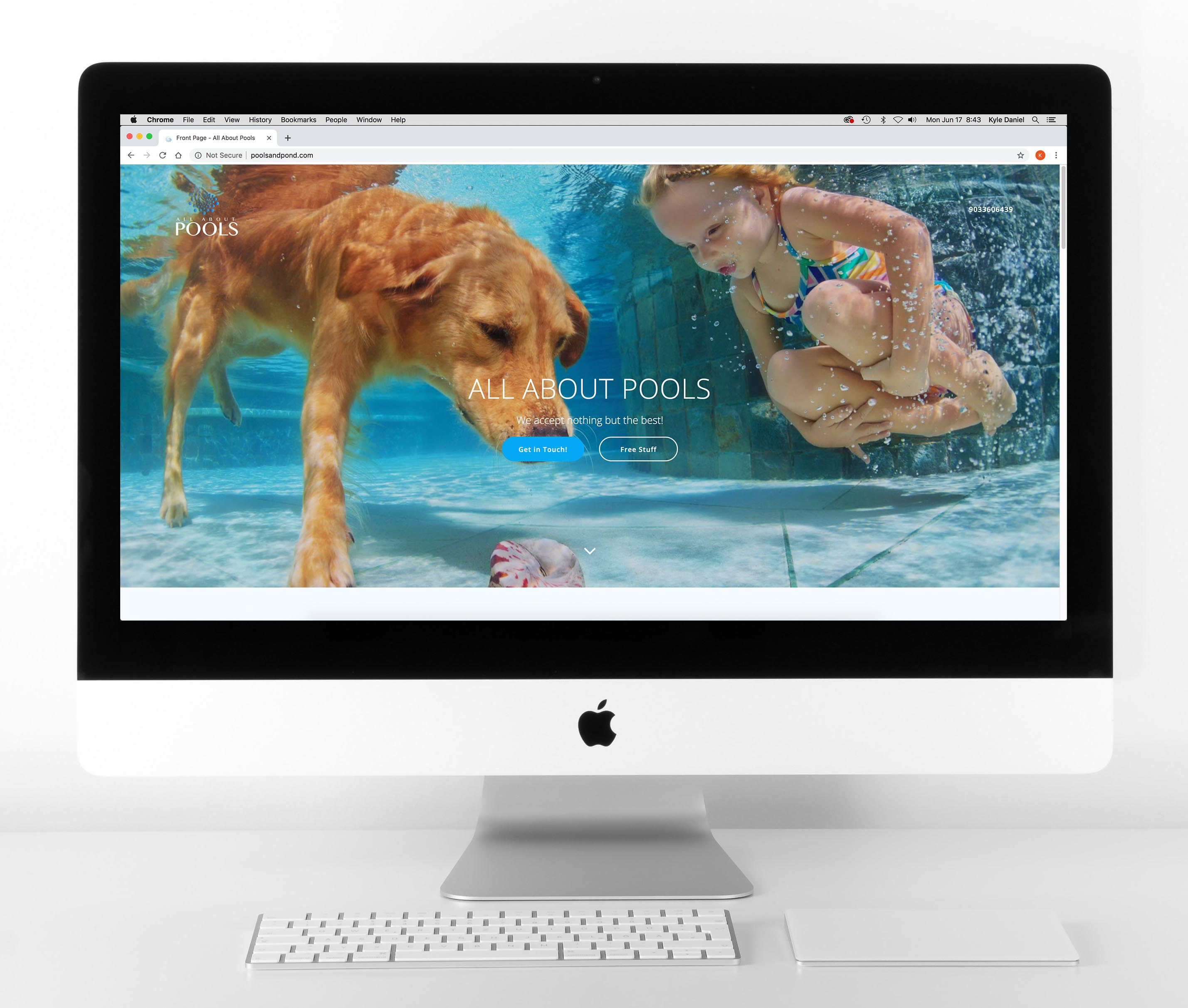 All About Pools Website Mockup
