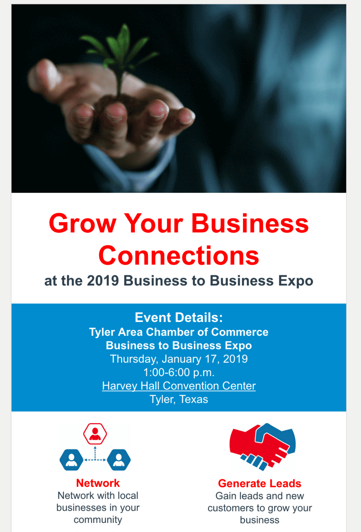 tyler area chamber of commerce example email